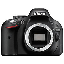 "Buy Nikon D5200 Digital SLR Camera, HD 1080p, 24.1MP, 3"" Screen, Body Only with 16GB + 8GB Memory Card Online at johnlewis.com"