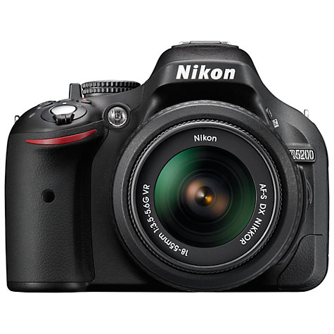 "Buy Nikon D5200 Digital SLR Camera with 18-55mm VR Lens, HD 1080p, 24.1MP, 3"" Screen Online at johnlewis.com"