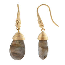 Buy Etrusca 18ct Gold Plated Labradorite Drop Hook Earrings Online at johnlewis.com