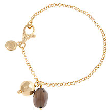 Buy Etrusca 18ct Gold Plated Smokey Quartz and Disc Bracelet Online at johnlewis.com