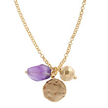 Buy Etrusca 18ct Gold Plated Amethyst and Faceted Bead Necklace Online at johnlewis.com
