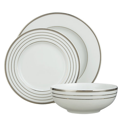 Buy John Lewis Platinum Dot Tableware Set, 12 Piece Online at johnlewis.com