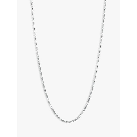 Buy Links of London Sterling Silver Mini Belcher Chain, 61cm Online at johnlewis.com