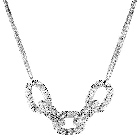 Buy Links of London Sterling Silver Effervescence Star Loop Necklace Online at johnlewis.com