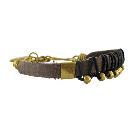 Buy Made Inanyaza Leather Brass Bracelet Online at johnlewis.com