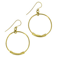 Buy Made Mabati Tube Small Hoop Earrings, Gold Online at johnlewis.com