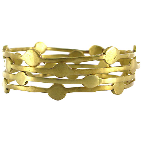 Buy Made Ndonondono Stacking Bangles, Gold Online at johnlewis.com
