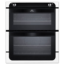 Buy New World NW701G Twin Cavity Gas Oven, White Online at johnlewis.com