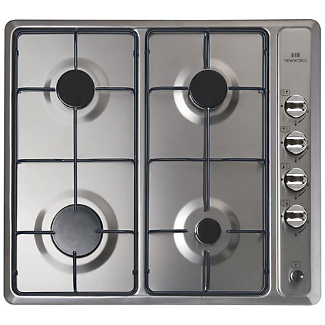 Buy New World NWGHU601 Gas Hob, Stainless Steel Online at johnlewis.com