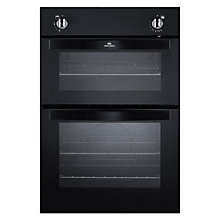 Buy New World NW901G Twin Cavity Gas Oven, Black Online at johnlewis.com