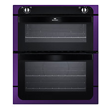Buy New World NW701DO Double Built-Under Electric Oven, Purple Online at johnlewis.com
