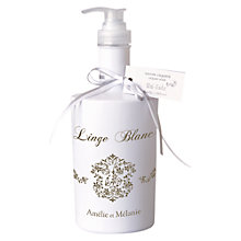 Buy Amelie et Melanie White Linen Liquid Soap, 300ml Online at johnlewis.com