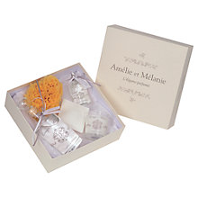 Buy Amelie et Melanie White Linen Romantic Gift Set Online at johnlewis.com