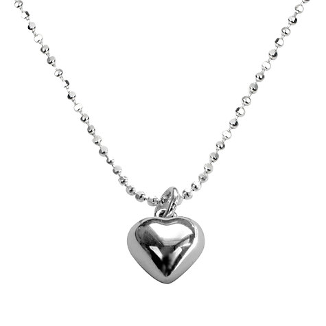 Buy Tales from the Earth Heart Necklace, Silver Online at johnlewis.com