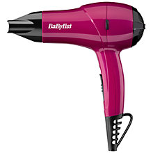 Buy BaByliss Nano Dryer 1200, Pink Online at johnlewis.com
