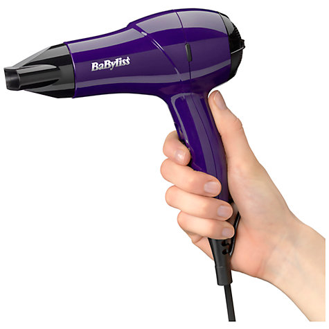 Buy BaByliss Nano Travel Hair Dryer 1200, Purple Online at johnlewis.com