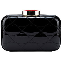 Buy Lulu Guinness Patent Leather Quilted Lips Fifi Clutch Bag Online at johnlewis.com