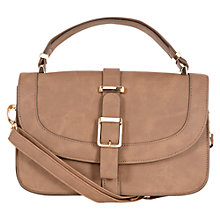 Buy Warehouse Seamed Satchel, Chocolate Online at johnlewis.com
