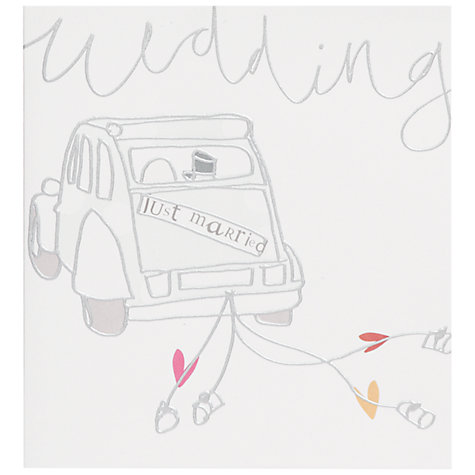 Buy Die Stamped Car Wedding Card Online at johnlewis.com