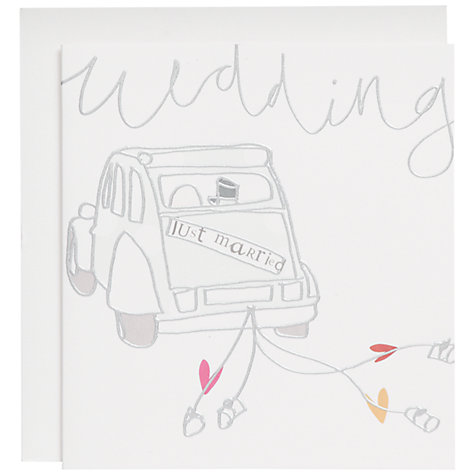 Buy Caroline Gardner Wedding Car Card Online at johnlewis.com