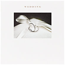 Buy Susan O'Hanlon Rings On Cushion Wedding Card Online at johnlewis.com