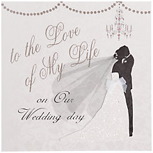 Buy Five Dollar Shake To The Love Of My Life On Our Wedding Day Card Online at johnlewis.com