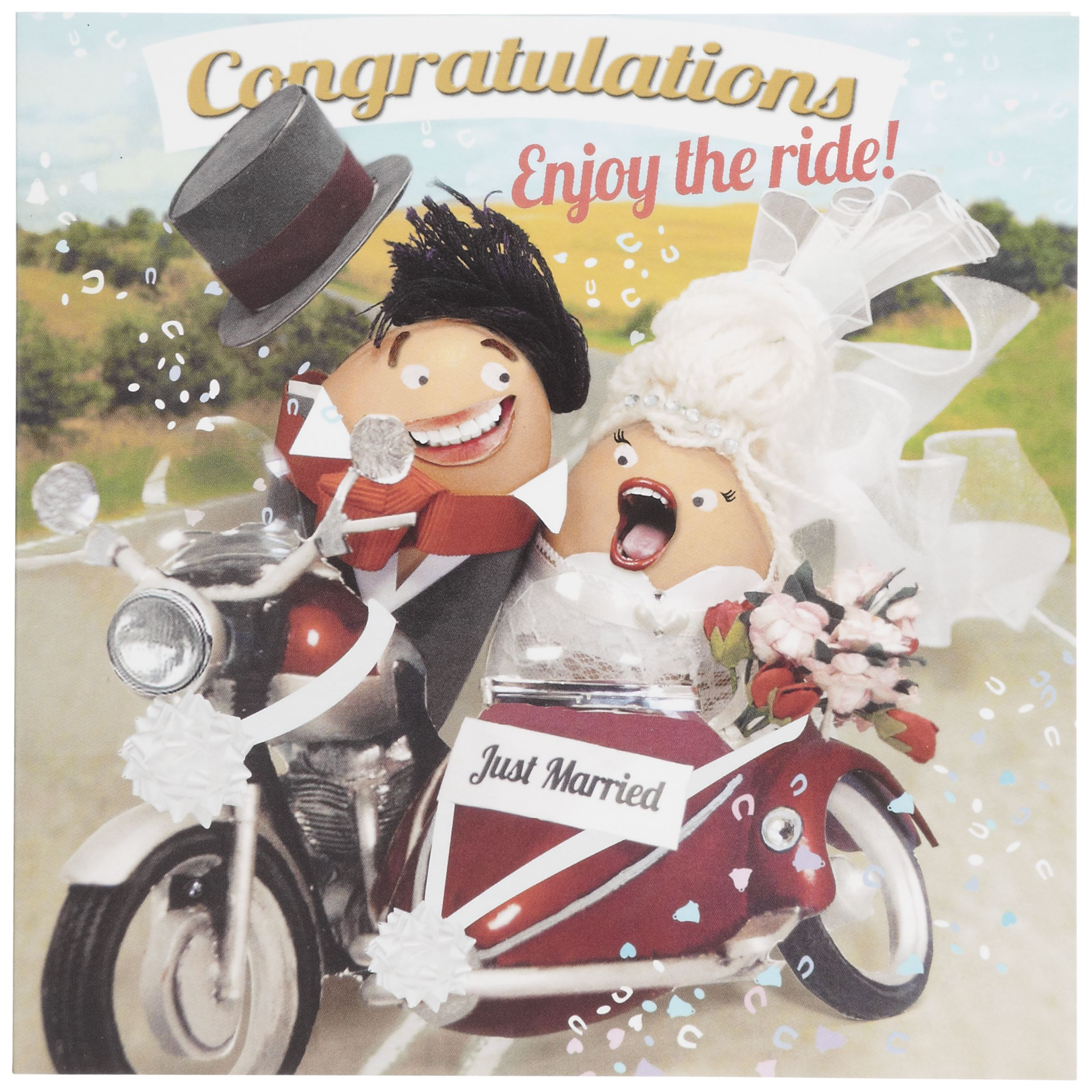 Hotch Potch Enjoy The Ride Wedding Card