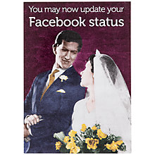 Buy Cath Tate Cards Facebook Status Wedding Card Online at johnlewis.com