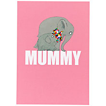 Buy Hype Elmer Mummy Mother's Day Card Online at johnlewis.com