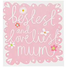 Buy Caroline Gardner Bestest and Loveliest Mum Mother's Day Card Online at johnlewis.com