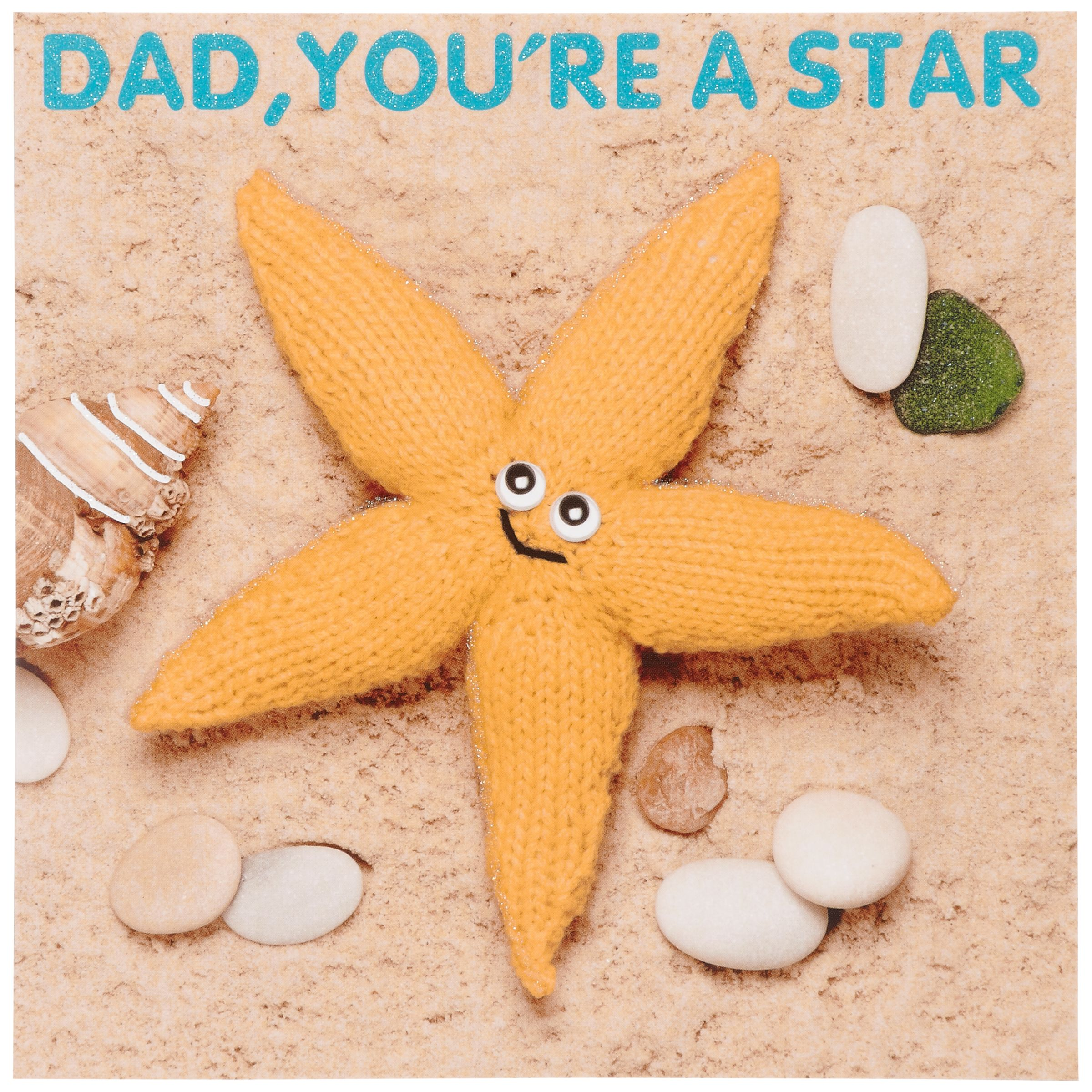 Mint Publishing Knit & Purl Knitted Starfish Father's Day Card