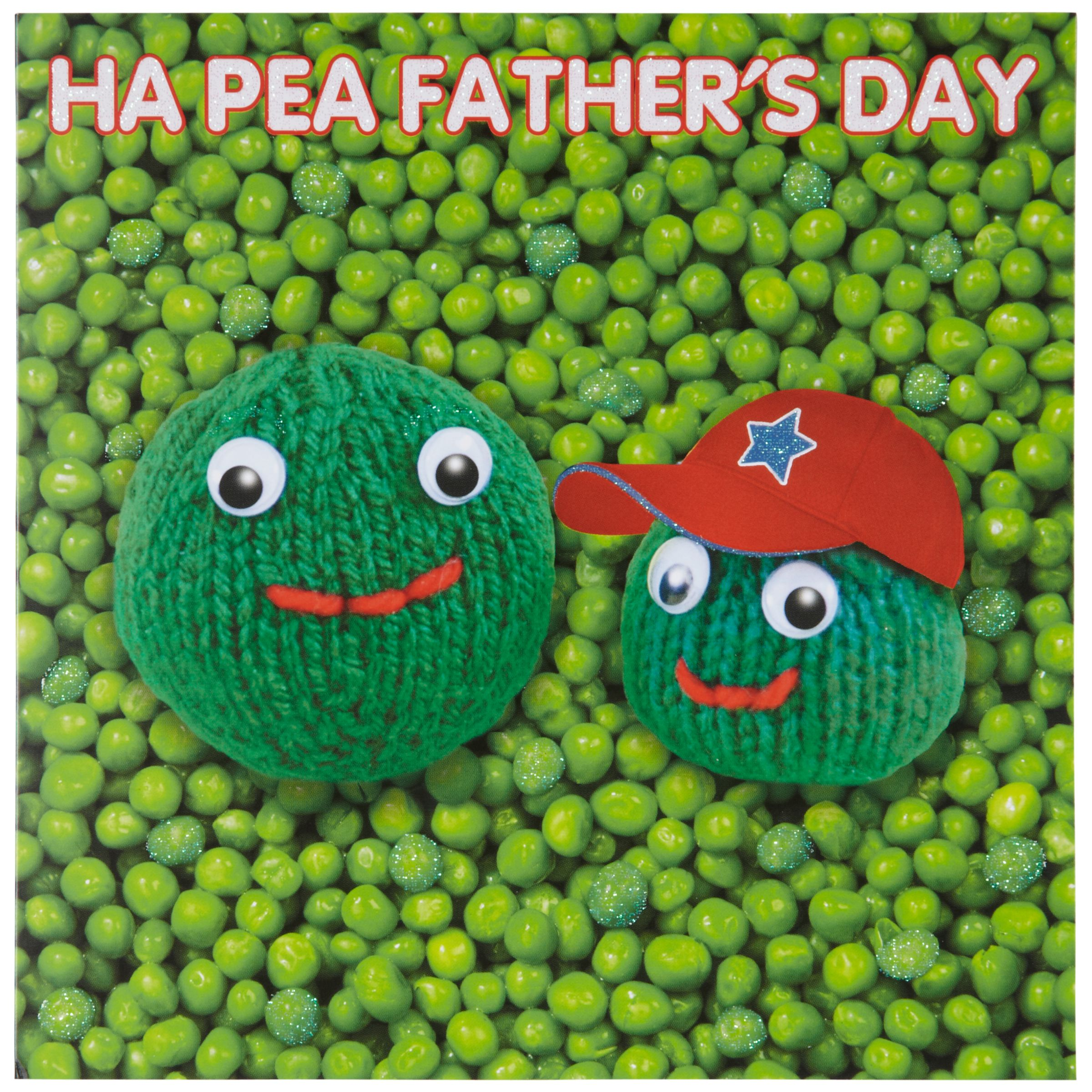 Mint Publishing Knit & Purl Ha Pea Father's Day Card
