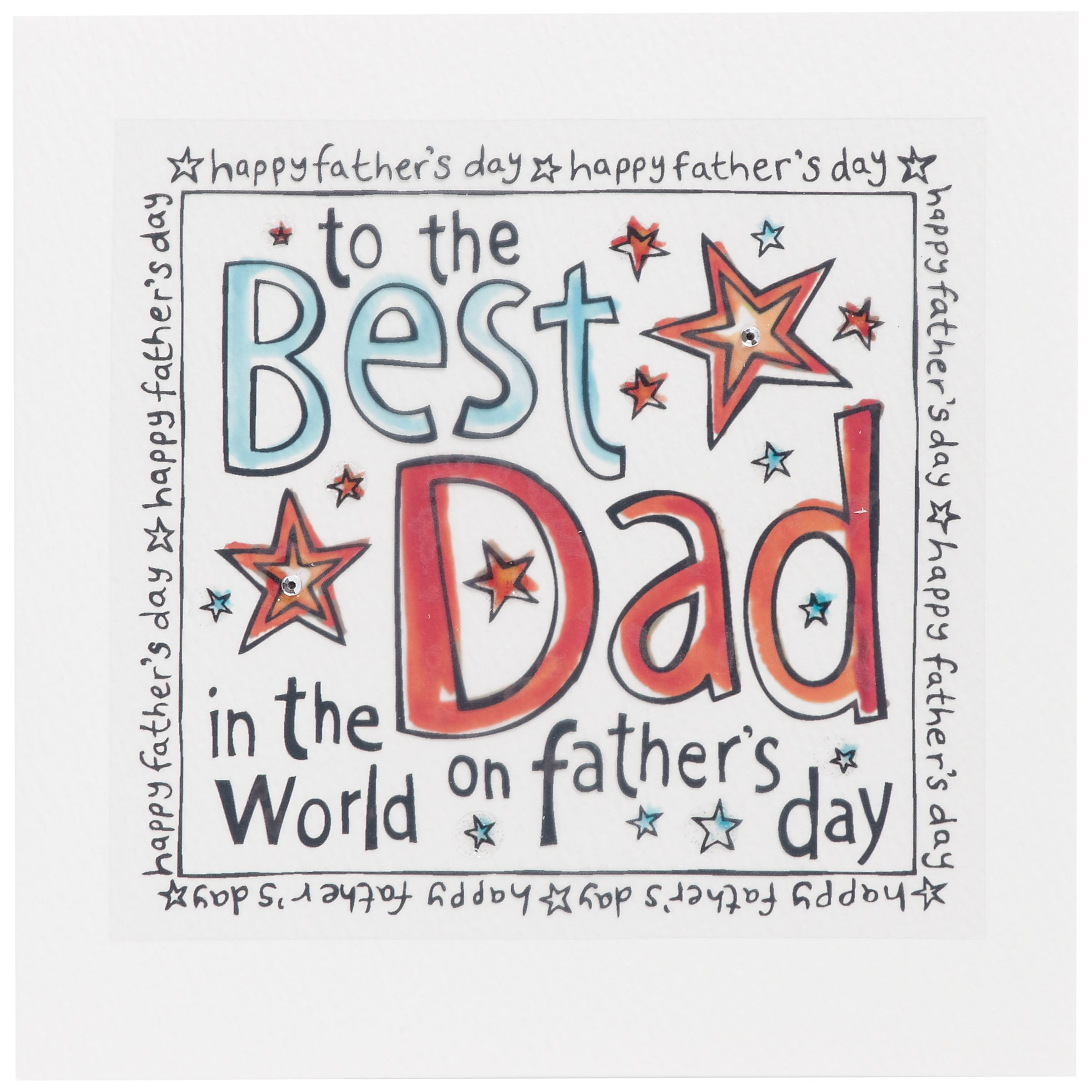 Blue Eyed Sun Best Dad Stars Father's Day Card