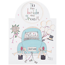 Buy Rachel Ellen Designs Bride and Groom Wedding Car Card Online at johnlewis.com