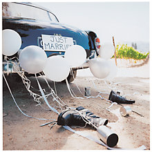 Buy Icon Old Car Tin Cans Wedding Card Online at johnlewis.com