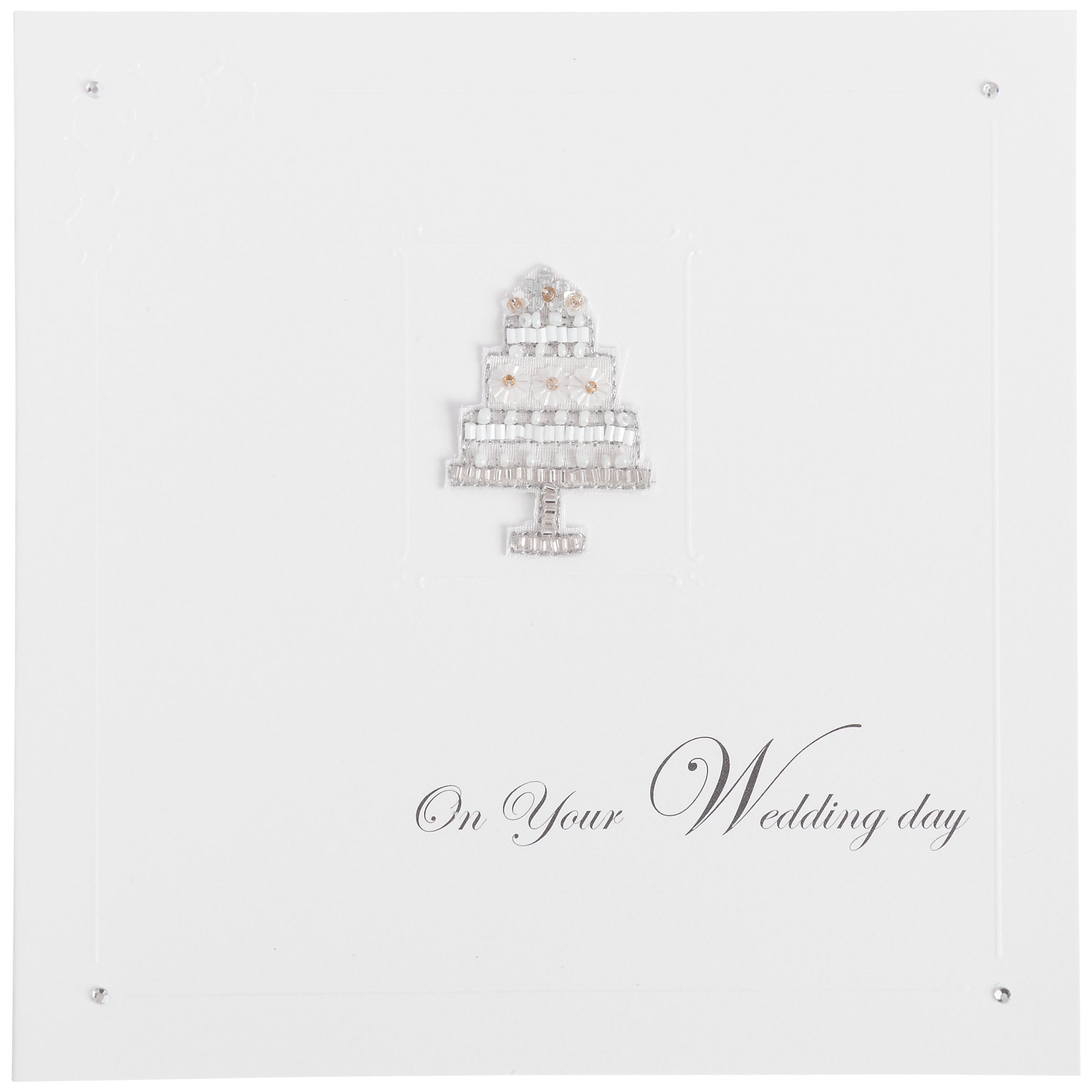 Metropolis World Wide Cream Wedding Cake Wedding Card