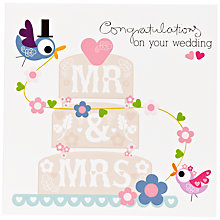 Buy Paper Rose Mr and Mrs Wedding Card Online at johnlewis.com