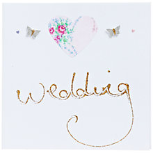 Buy Evie & Me Glitter Wedding Heart Wedding Card Online at johnlewis.com