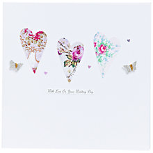 Buy Evie & Me Wedding Heart and Butterflies Wedding Card Online at johnlewis.com
