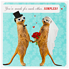 Buy Paperlink Simples Wedding Card Online at johnlewis.com