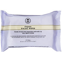 Buy Neal's Yard Organic Facial Wipes, Pack of 25 Online at johnlewis.com