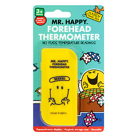 Buy Mr Men Mr Happy Forehead Thermometer Online at johnlewis.com