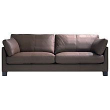 Buy John Lewis Ikon Leather Grand 4 Seater Sofa, Dakota Mocha Online at johnlewis.com