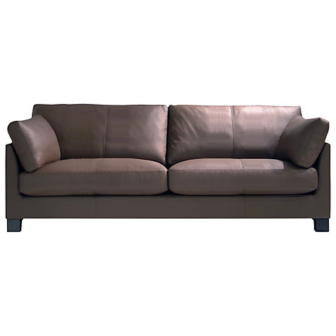 Buy John Lewis Ikon Grand Sofa, Dakota Leather Online at johnlewis.com