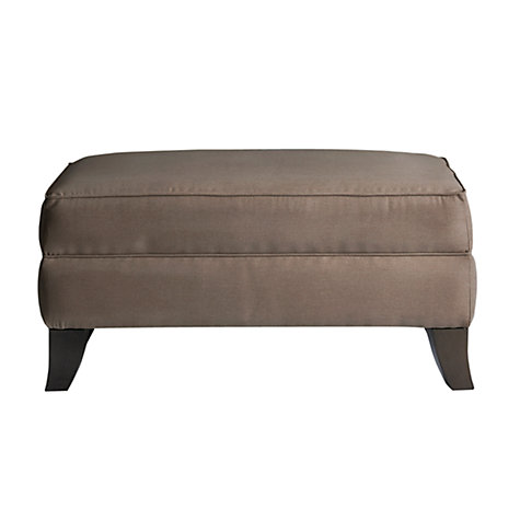 Buy John Lewis Lucca Footstool, Grace Mocha Online at johnlewis.com