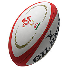 Buy Gilbert Wales Replica Rugby Ball, Size 5 Online at johnlewis.com
