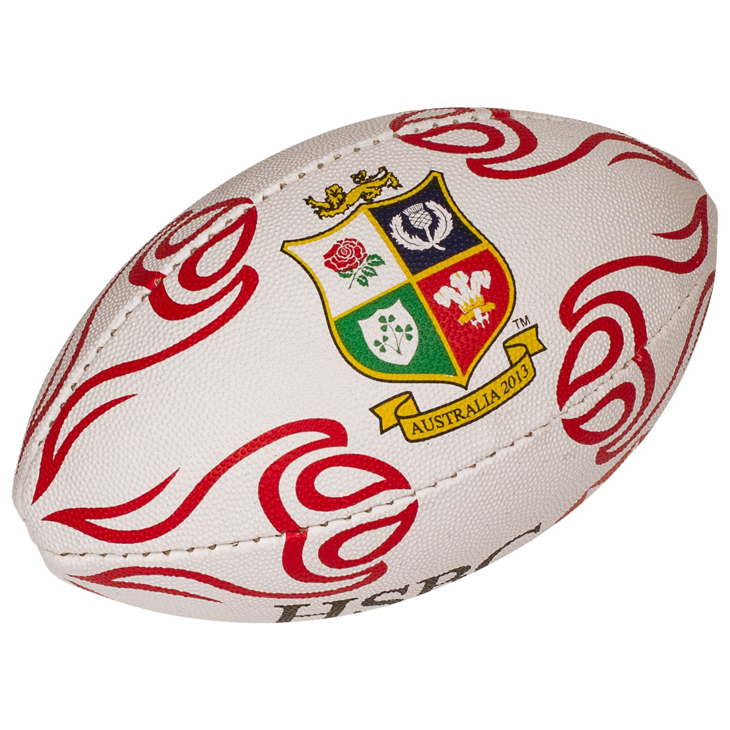 Rhino Rugby For The British And Irish Lions 2013 Official Mini Ball, White