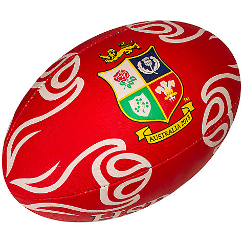 Buy Rhino Rugby for the British and Irish Lions 2013 Official Supporter's Ball, Red Online at johnlewis.com