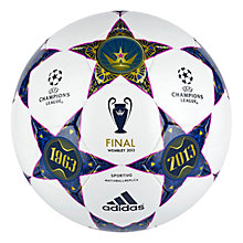 Buy Adidas UEFA Champions League Final Replica Football, White/Blue Online at johnlewis.com