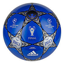 Buy Adidas UEFA Champions League Final Alternative Football, Blue/Grey Online at johnlewis.com